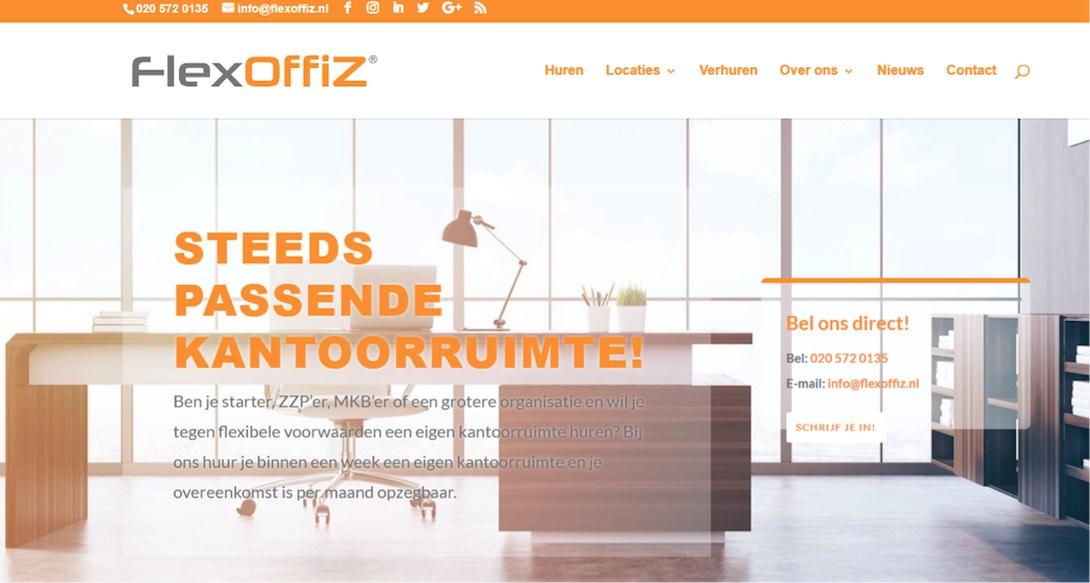 FlexOffiZ heeft een nieuwe website